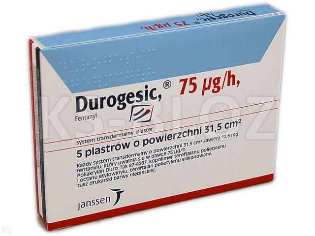 Durogesic interakcje ulotka system transdermalny,plaster 0,075 mg/h (12,6 mg) 5 szt.