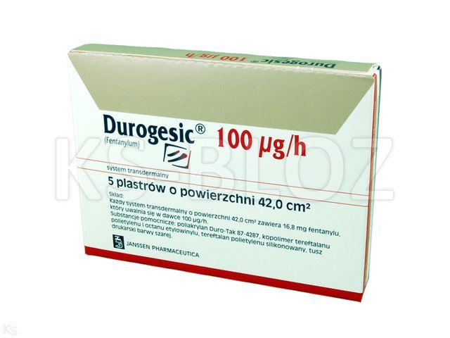 Durogesic interakcje ulotka system transdermalny,plaster 0,1 mg/h (16,8 mg) 5 szt.