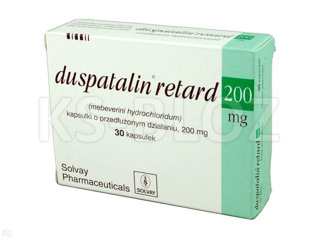 Duspatalin retard interakcje ulotka kapsułki o przedłużonym uwalnianiu 0,2 g 30 kaps. | 3 blist.po 10 szt.