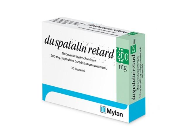 Duspatalin retard interakcje ulotka kapsułki o przedłużonym uwalnianiu 0,2 g 30 kaps.