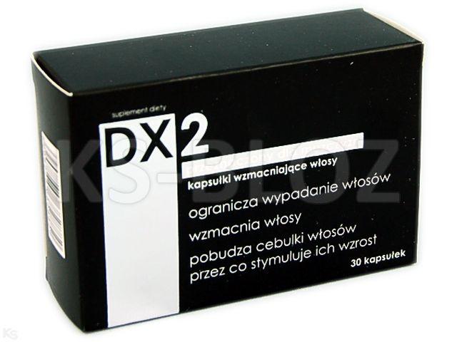 DX2 wzmac.włosy dla mężczyzn interakcje ulotka kapsułki  30 kaps.