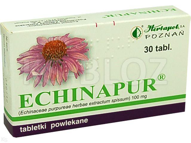 Echinapur interakcje ulotka tabletki powlekane 0,1 g 30 tabl. | 2 blist.po 15 szt.