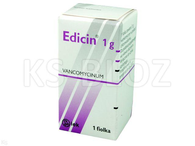Edicin interakcje ulotka proszek do sporządzania roztworu do infuzji 1 g 1 fiol.pr.