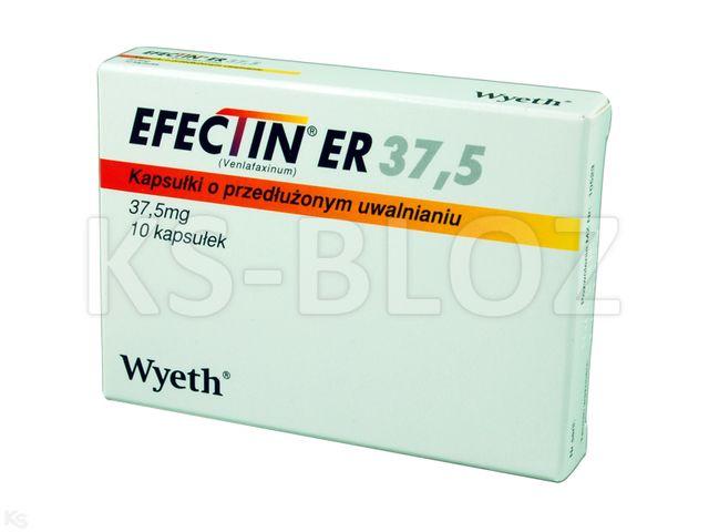 Efectin ER 37,5 interakcje ulotka kapsułki o przedłużonym uwalnianiu 0,0375 g 10 kaps.