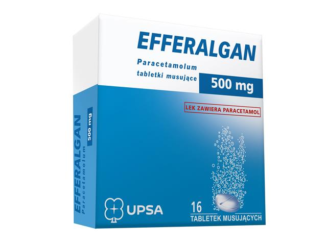 Efferalgan interakcje ulotka tabletki musujące 0,5 g 16 tabl.