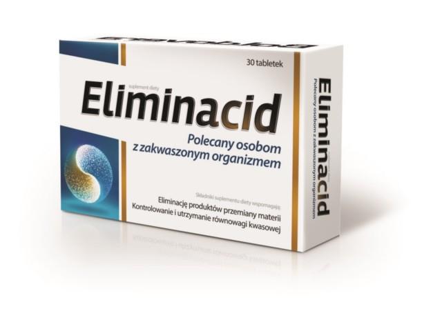Eliminacid interakcje ulotka tabletki  30 tabl.