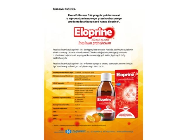 Eloprine interakcje ulotka syrop 0,25 g/5ml 150 ml