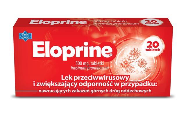 Eloprine interakcje ulotka tabletki 0,5 g 20 tabl.