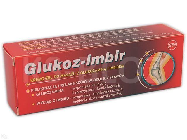 EMO GLUKOZ-IMBIR Krem-żel d/masażu interakcje ulotka   70 g