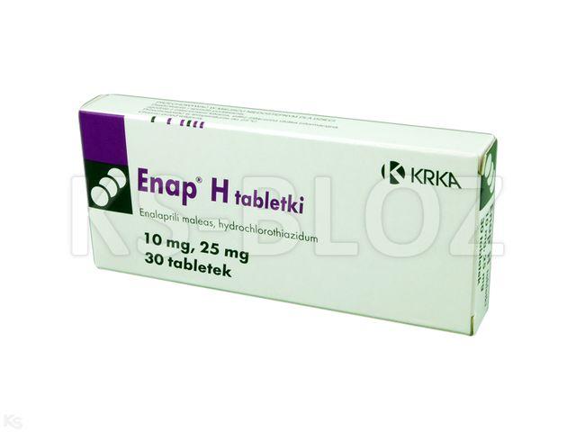 Enap H interakcje ulotka tabletki 0,01g+0,025g 30 tabl.
