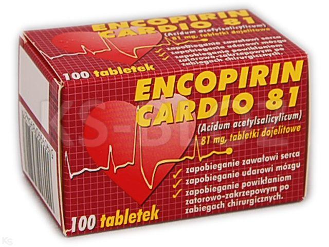 Encopirin Cardio 81 interakcje ulotka tabletki dojelitowe 0,081 g 100 tabl.