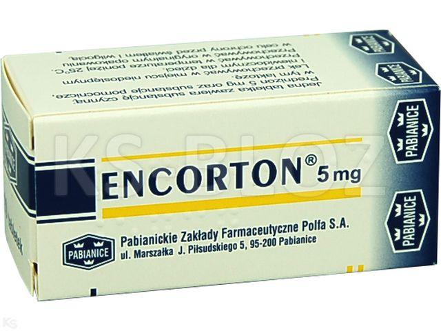 Encorton interakcje ulotka tabletki 5 mg 20 tabl.