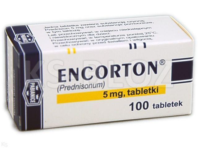 Encorton interakcje ulotka tabletki 5 mg 100 tabl.