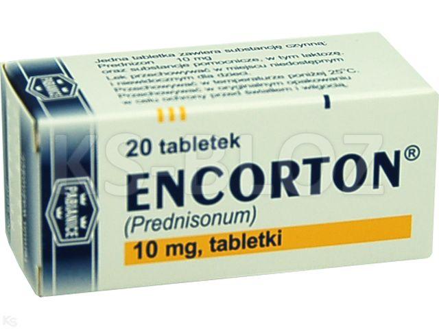 Encorton interakcje ulotka tabletki 0,01 g 20 tabl.