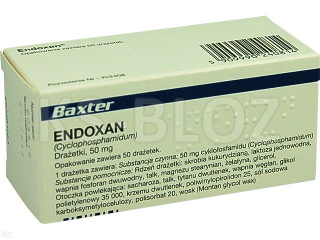 Endoxan interakcje ulotka tabletki drażowane 0,05 g 50 tabl.