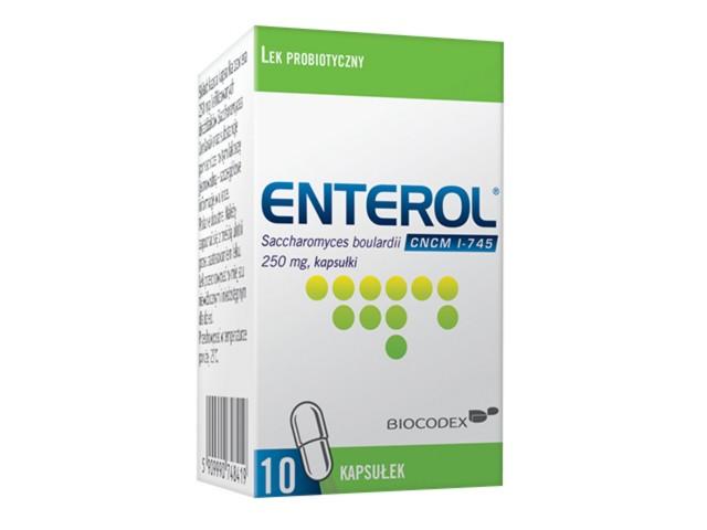 Enterol 250 interakcje ulotka kapsułki 0,25 g 10 kaps.
