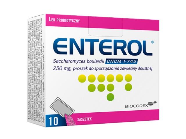 Enterol 250 interakcje ulotka proszek do sporządzania zawiesiny doustnej 0,25 g 10 sasz.
