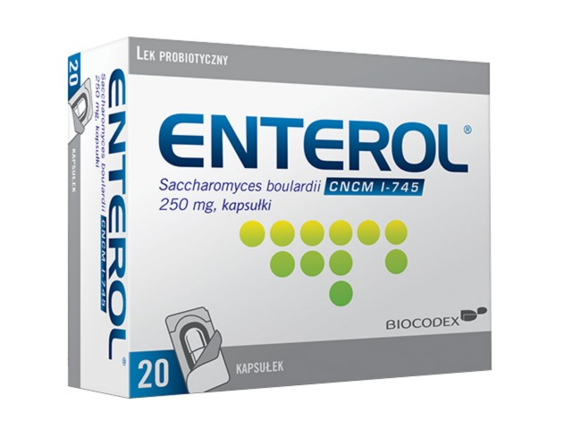 Enterol 250 interakcje ulotka kapsułki 0,25 g 20 kaps.