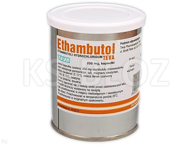 Ethambutol Teva interakcje ulotka kapsułki 0,25 g 250 kaps.