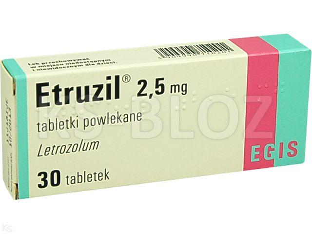 Etruzil interakcje ulotka tabletki powlekane 2,5 mg 30 tabl.