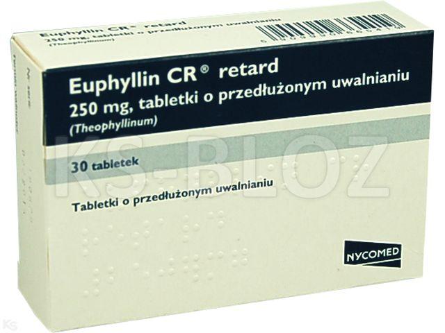 Euphyllin CR Retard interakcje ulotka tabletki o przedłużonym uwalnianiu 0,25 g 30 tabl.