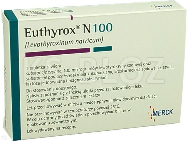 Euthyrox N 100 interakcje ulotka tabletki 0,1 mg 100 tabl.