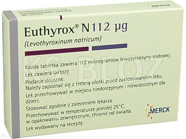 Euthyrox N 112 mcg interakcje ulotka tabletki 0,112 mg 50 tabl.