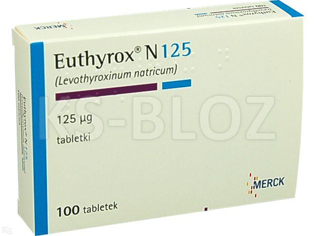 Euthyrox N 125 interakcje ulotka tabletki 0,125 mg 100 tabl.