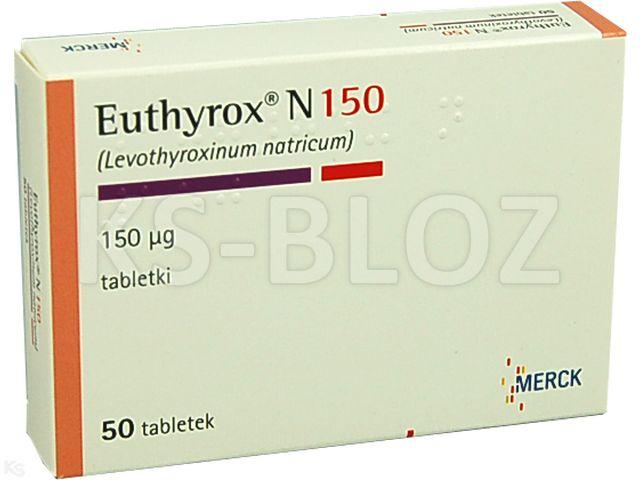 Euthyrox N 150 interakcje ulotka tabletki 0,15 mg 50 tabl.