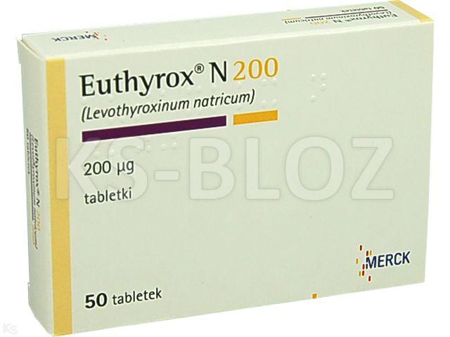 Euthyrox N 200 interakcje ulotka tabletki 0,2 mg 50 tabl.
