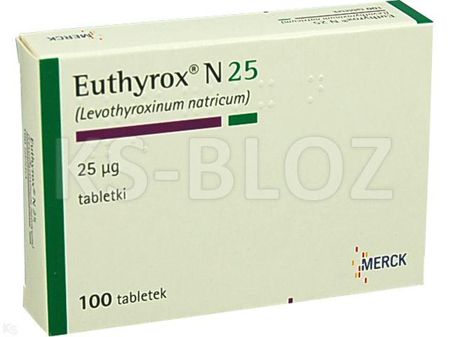 Euthyrox N 25 interakcje ulotka tabletki 0,025 mg 100 tabl.