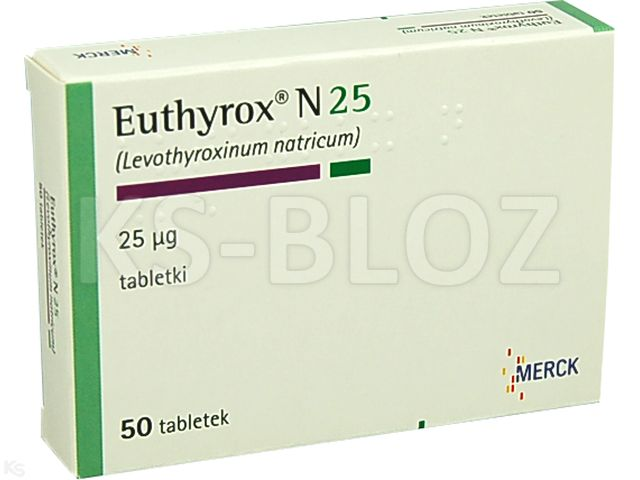 Euthyrox N 25 interakcje ulotka tabletki 0,025 mg 50 tabl.