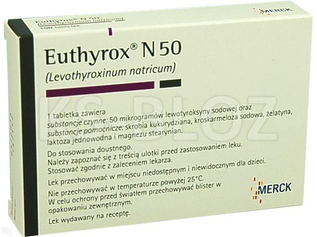 Euthyrox N 50 interakcje ulotka tabletki 0,05 mg 100 tabl.