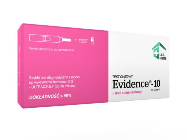 Evidence-10 Ultraczuły test ciążowy interakcje ulotka   1 szt.