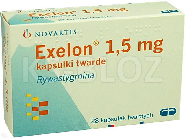 Exelon interakcje ulotka kapsułki twarde 1,5 mg 28 kaps.