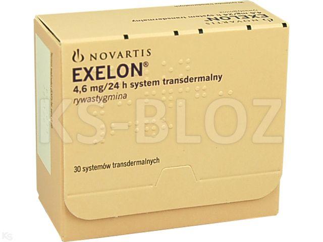 Exelon interakcje ulotka system transdermalny,plaster 4,6 mg/24h (9 mg) 30 sasz.