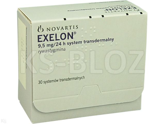 Exelon interakcje ulotka system transdermalny,plaster 9,5 mg/24h (18 mg) 30 sasz.
