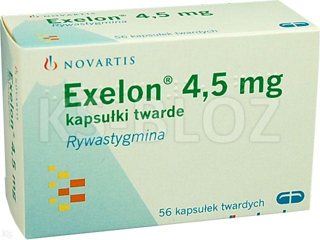Exelon interakcje ulotka kapsułki twarde 4,5 mg 56 kaps.