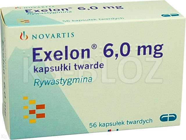 Exelon interakcje ulotka kapsułki twarde 6 mg 56 kaps.