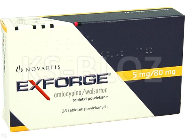 Exforge interakcje ulotka tabletki powlekane 0,08g+5mg 28 tabl.