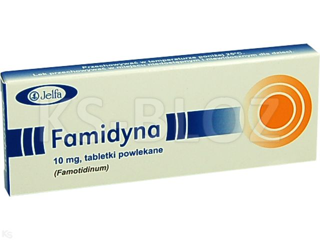 Famidyna interakcje ulotka tabletki powlekane 0,01 g 10 tabl.