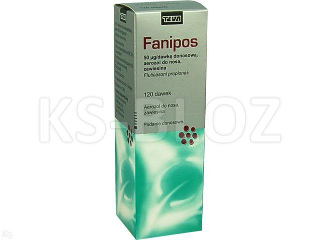 Fanipos interakcje ulotka aerozol do nosa, zawiesina 0,05 mg/daw. 1 poj. po 120 daw.