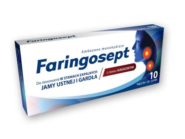 Faringosept interakcje ulotka tabletki do ssania 0,01 g 10 tabl.