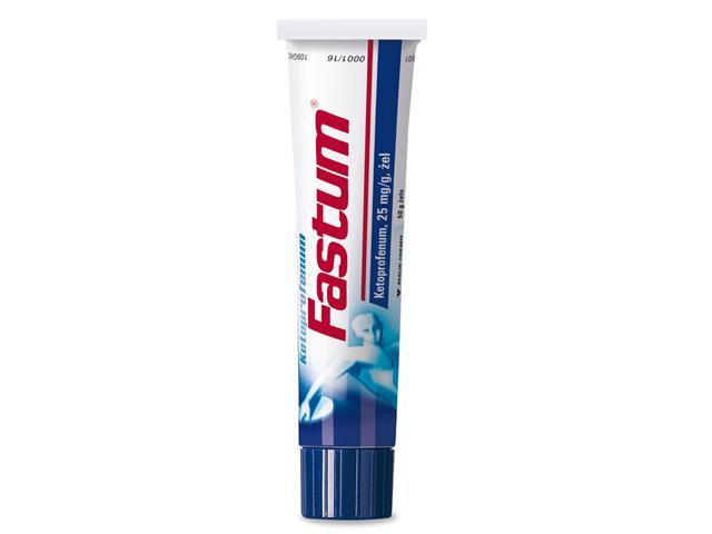 Fastum (Ketoprofenum Fastum) interakcje ulotka żel 0,025 g/g 50 g