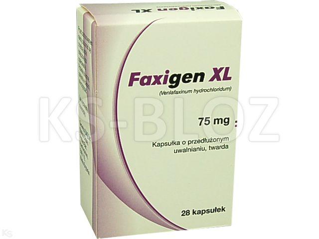 Faxigen XL 75 mg interakcje ulotka kapsułki o przedłużonym uwalnianiu twarde 0,075 g 28 kaps. | 4 blist.po 7 szt.
