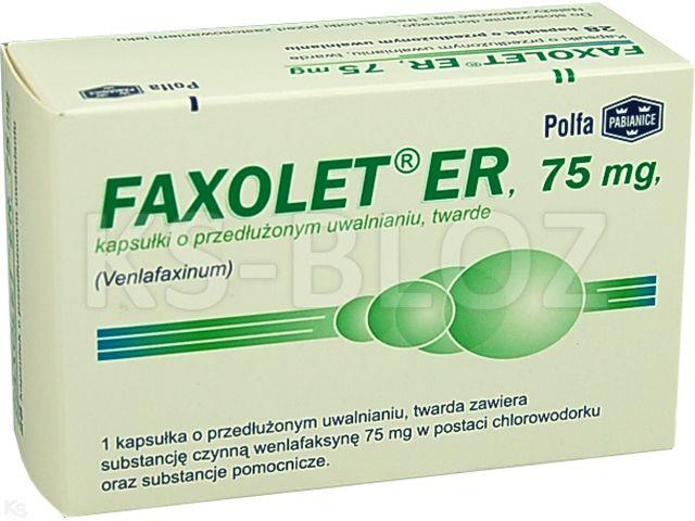 Faxolet ER interakcje ulotka kapsułki o przedłużonym uwalnianiu twarde 0,075 g 28 kaps.