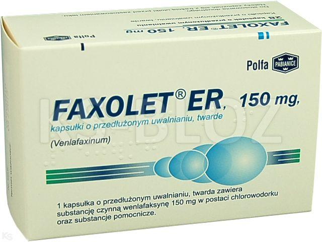 Faxolet ER interakcje ulotka kapsułki o przedłużonym uwalnianiu twarde 0,15 g 28 kaps.