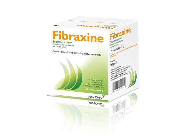 Fibraxine interakcje ulotka saszetka  15 sasz. po 6 g