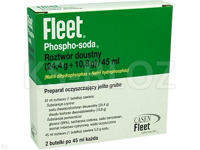 Fleet Phospho-Soda interakcje ulotka roztwór doustny (0,0244g+0,018g)/45ml 2 but. po 45 ml