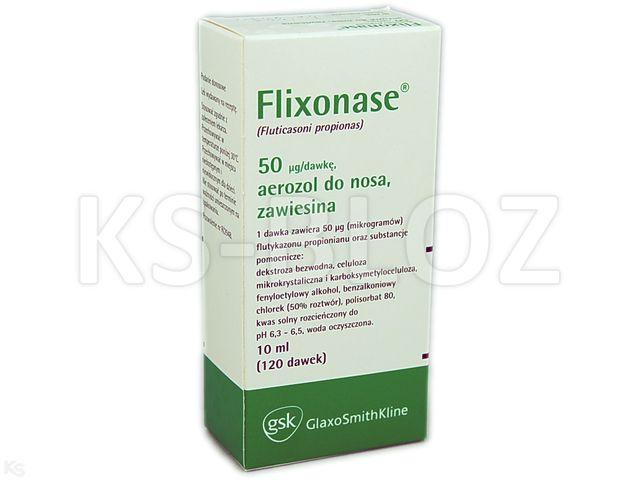 Flixonase interakcje ulotka aerozol do nosa, zawiesina 0,05 mg/daw. 1 poj. po 120 daw. | 10 ml